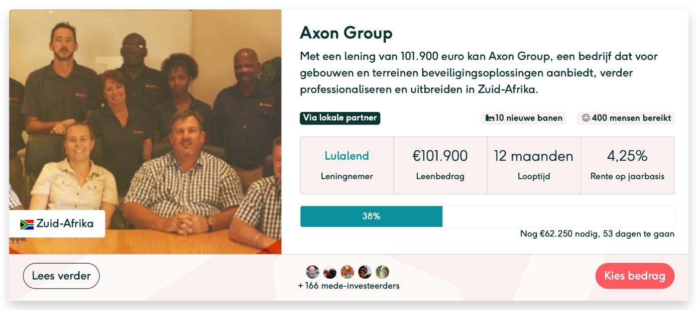 Lendahand crowdfunding projecten