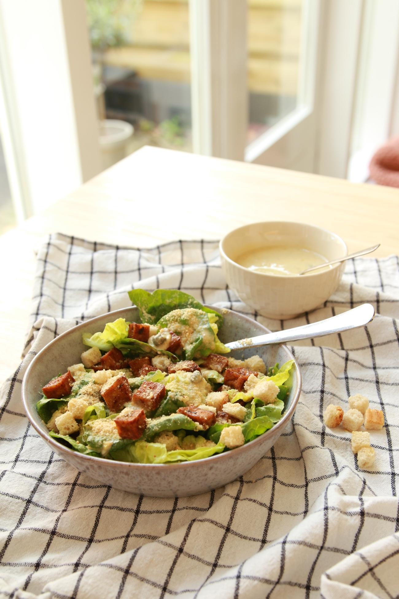 plantaardige caesar salade recept