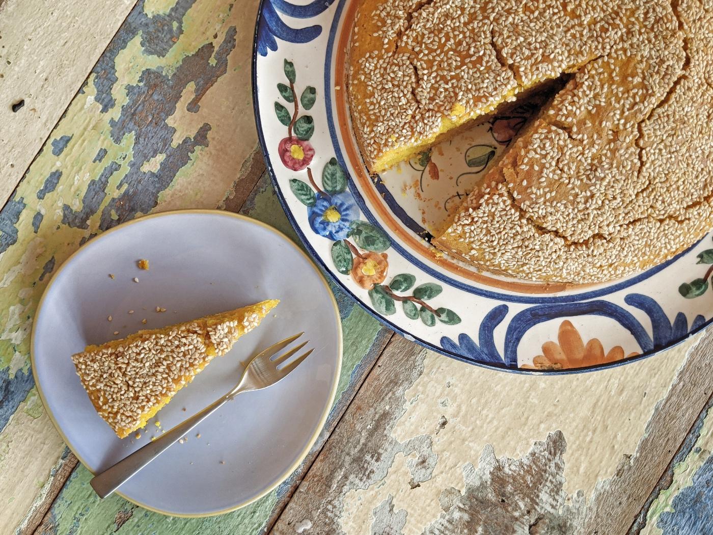 Libanese Sfouf - kurkuma cake