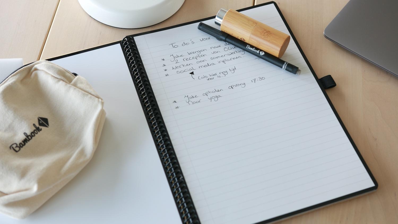 uitwisbaar notitieboek Bambook