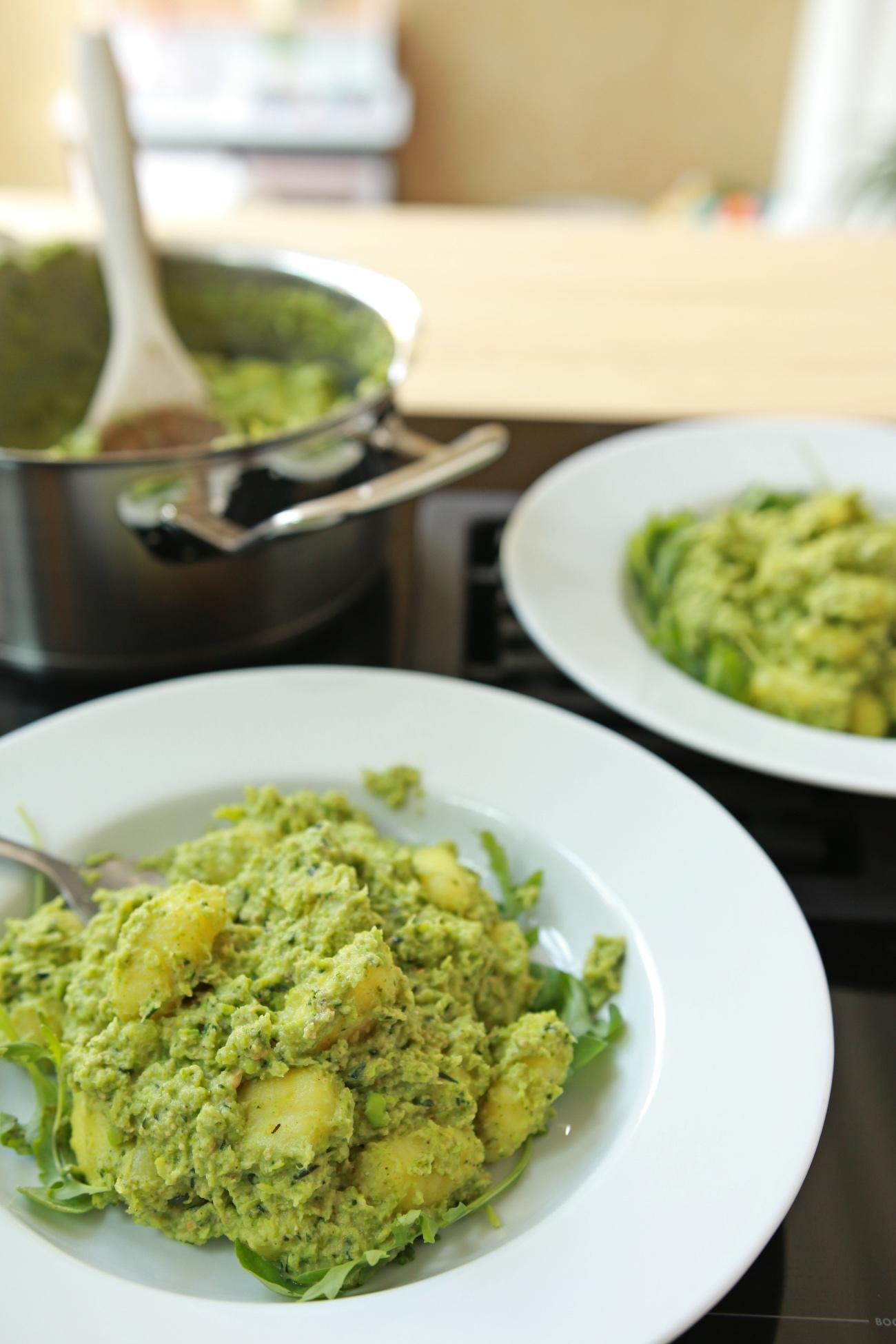 pasta recept met pesto